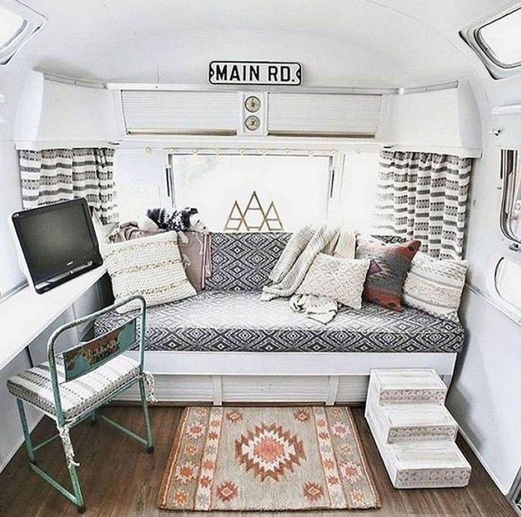 Nice RV Camper Remodel Ideas 16