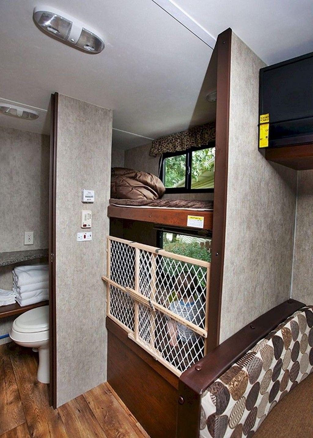 Nice RV Camper Remodel Ideas 24