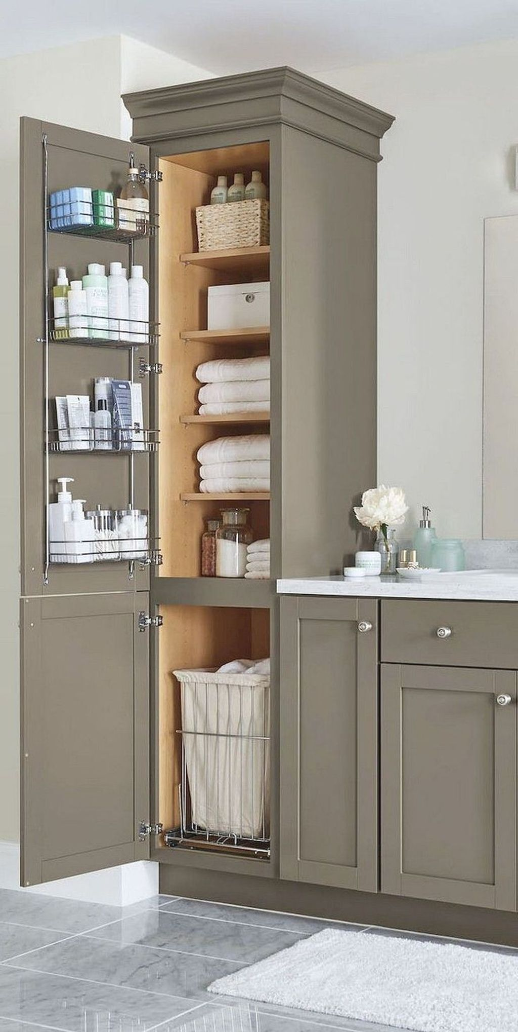 Stunning Bathroom Storage Design Ideas 11