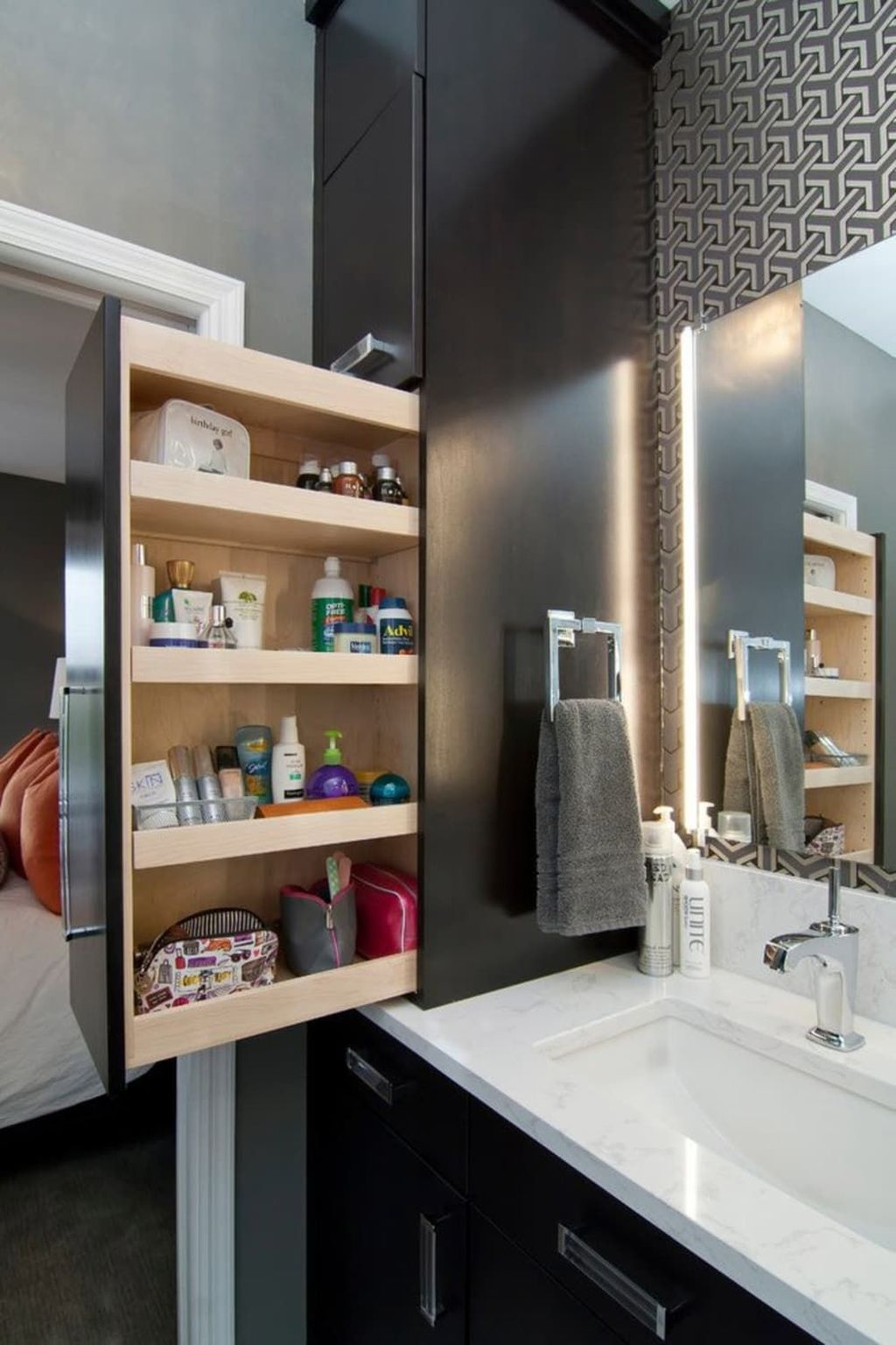 Stunning Bathroom Storage Design Ideas 16