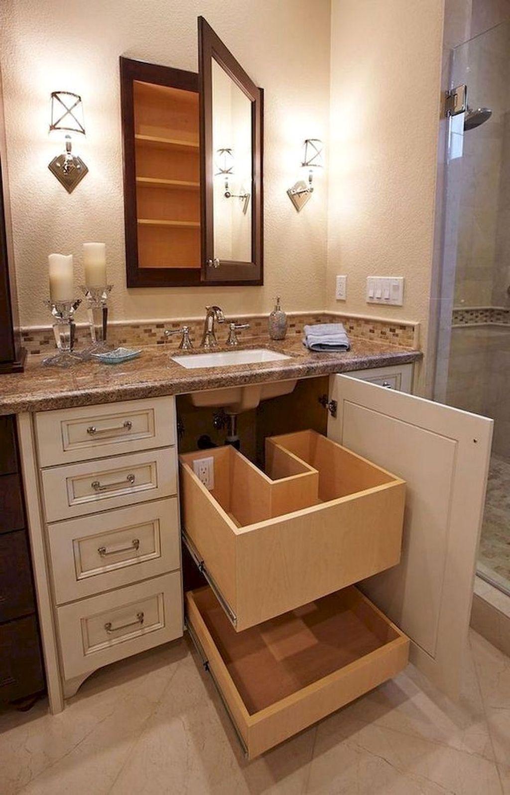 Stunning Bathroom Storage Design Ideas 17