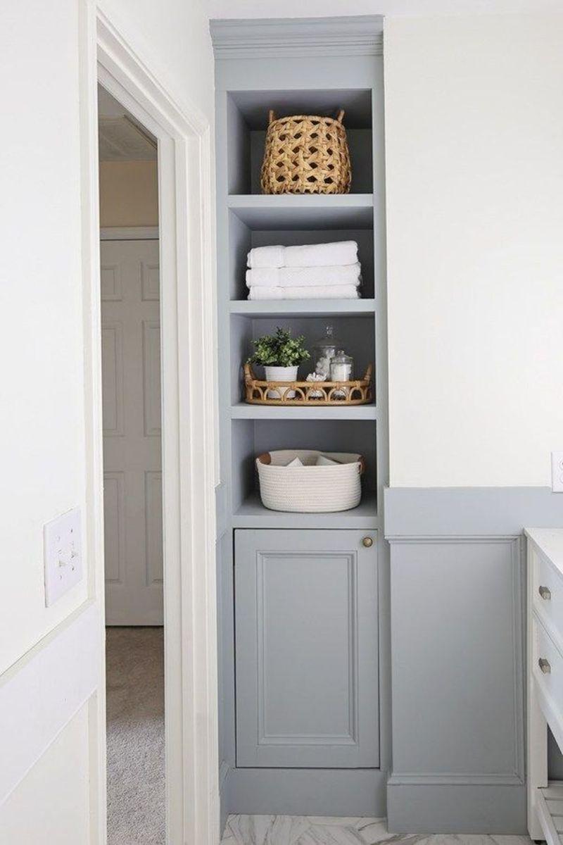 Stunning Bathroom Storage Design Ideas 19