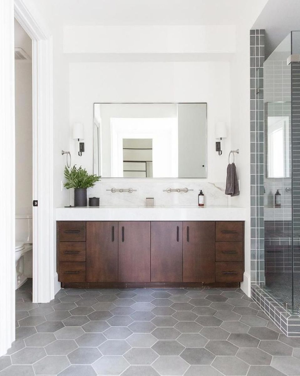 Admirable Rustic Modern Bathroom Design And Decor Ideas 25
