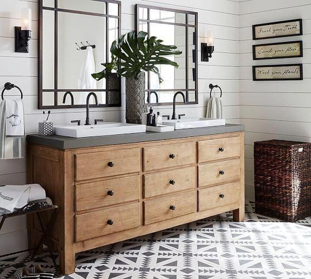 Admirable Rustic Modern Bathroom Design And Decor Ideas 34