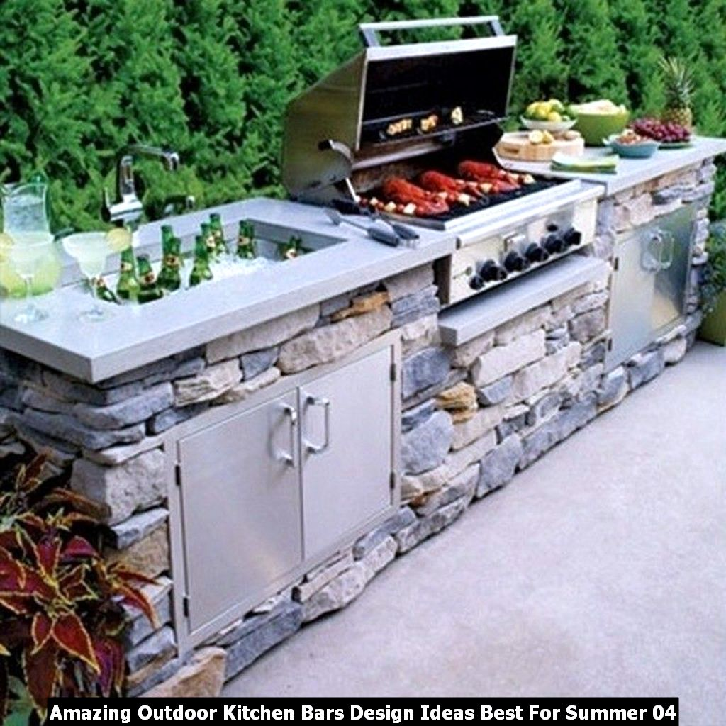 Amazing Outdoor Kitchen Bars Design Ideas Best For Summer 04