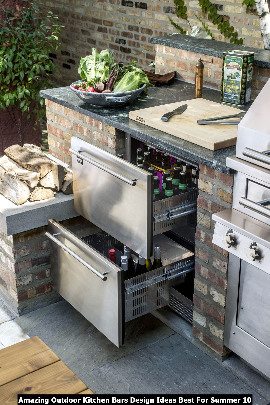 Amazing Outdoor Kitchen Bars Design Ideas Best For Summer 10