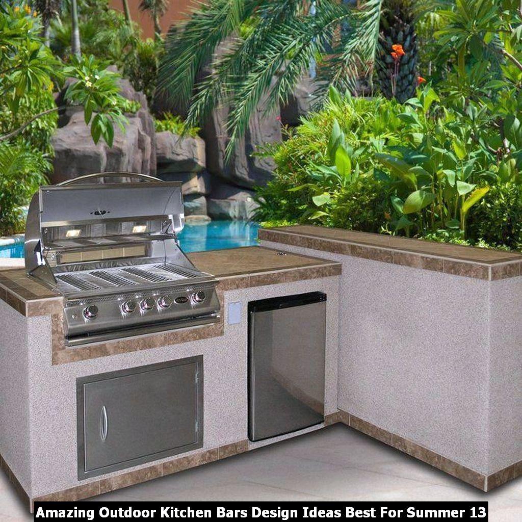 Amazing Outdoor Kitchen Bars Design Ideas Best For Summer 13