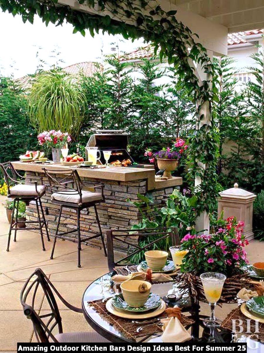 Amazing Outdoor Kitchen Bars Design Ideas Best For Summer 25