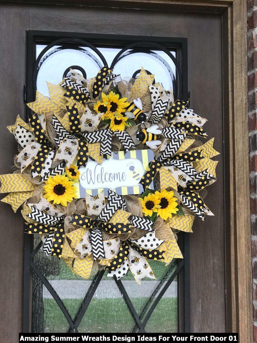 Amazing Summer Wreaths Design Ideas For Your Front Door 01