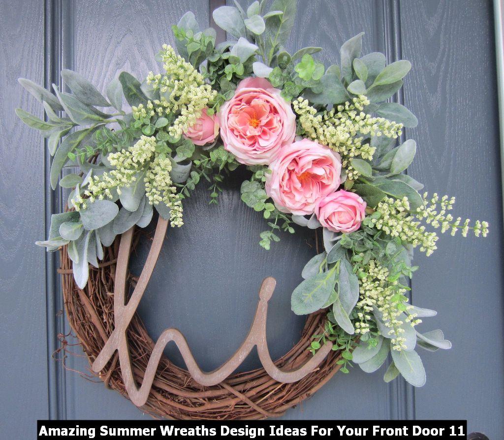 Amazing Summer Wreaths Design Ideas For Your Front Door 11