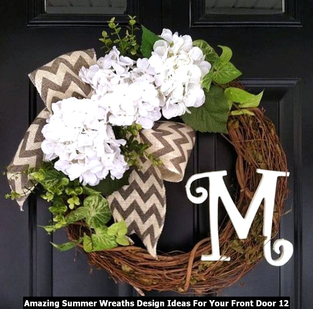 Amazing Summer Wreaths Design Ideas For Your Front Door 12