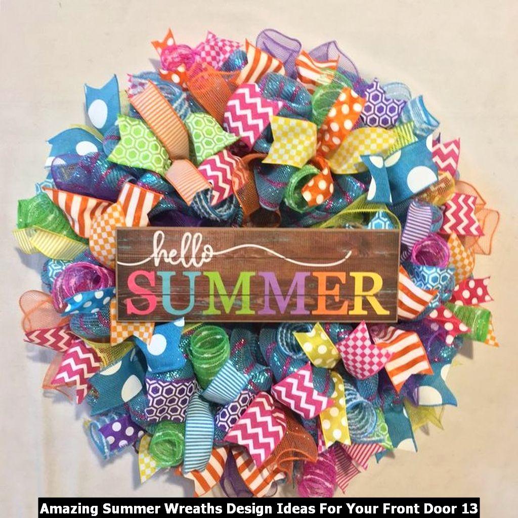 Amazing Summer Wreaths Design Ideas For Your Front Door 13