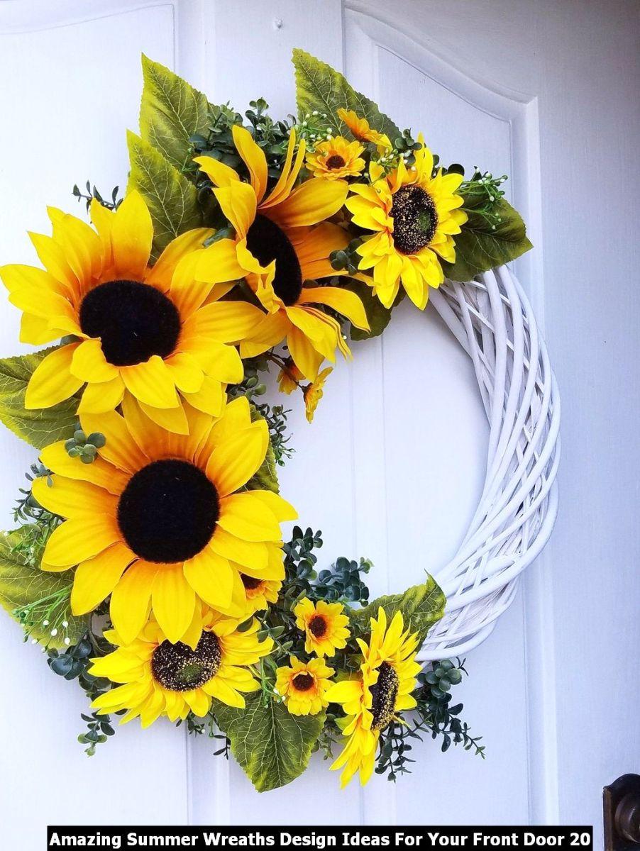 Amazing Summer Wreaths Design Ideas For Your Front Door 20