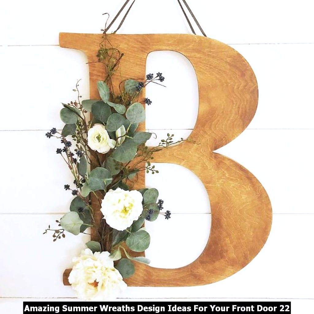 Amazing Summer Wreaths Design Ideas For Your Front Door 22