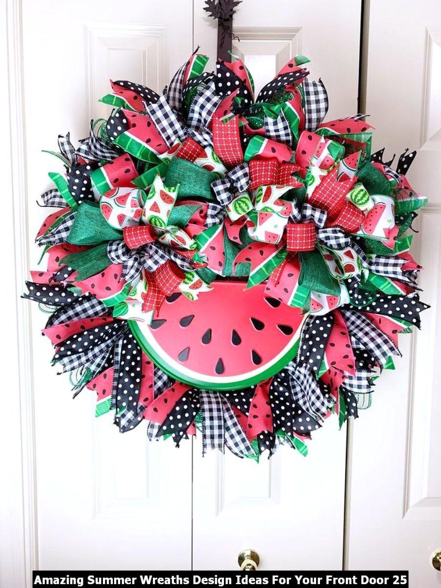 Amazing Summer Wreaths Design Ideas For Your Front Door 25