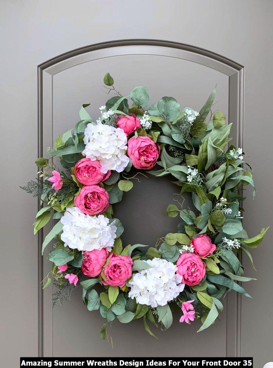 Amazing Summer Wreaths Design Ideas For Your Front Door 35