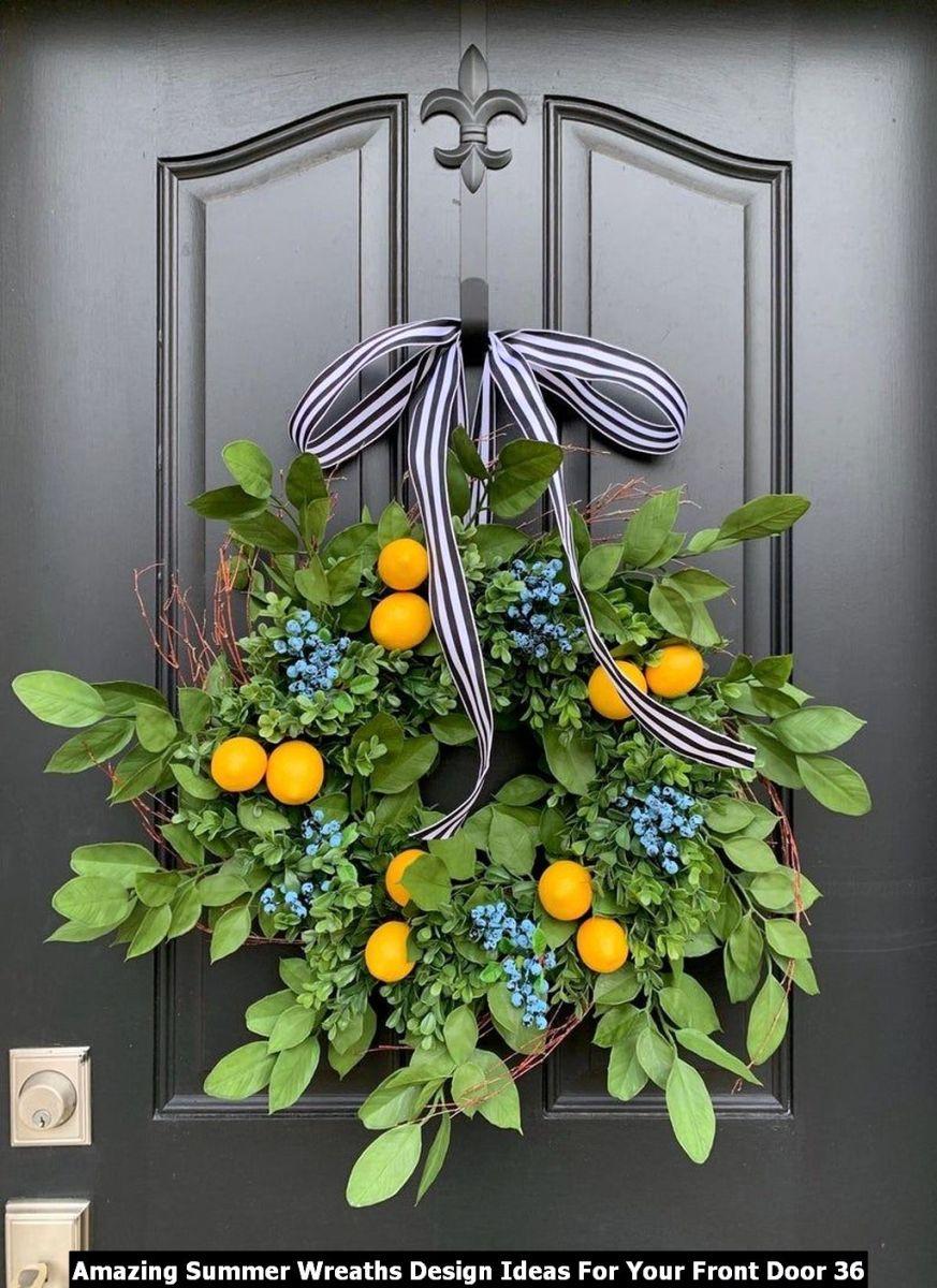 Amazing Summer Wreaths Design Ideas For Your Front Door 36