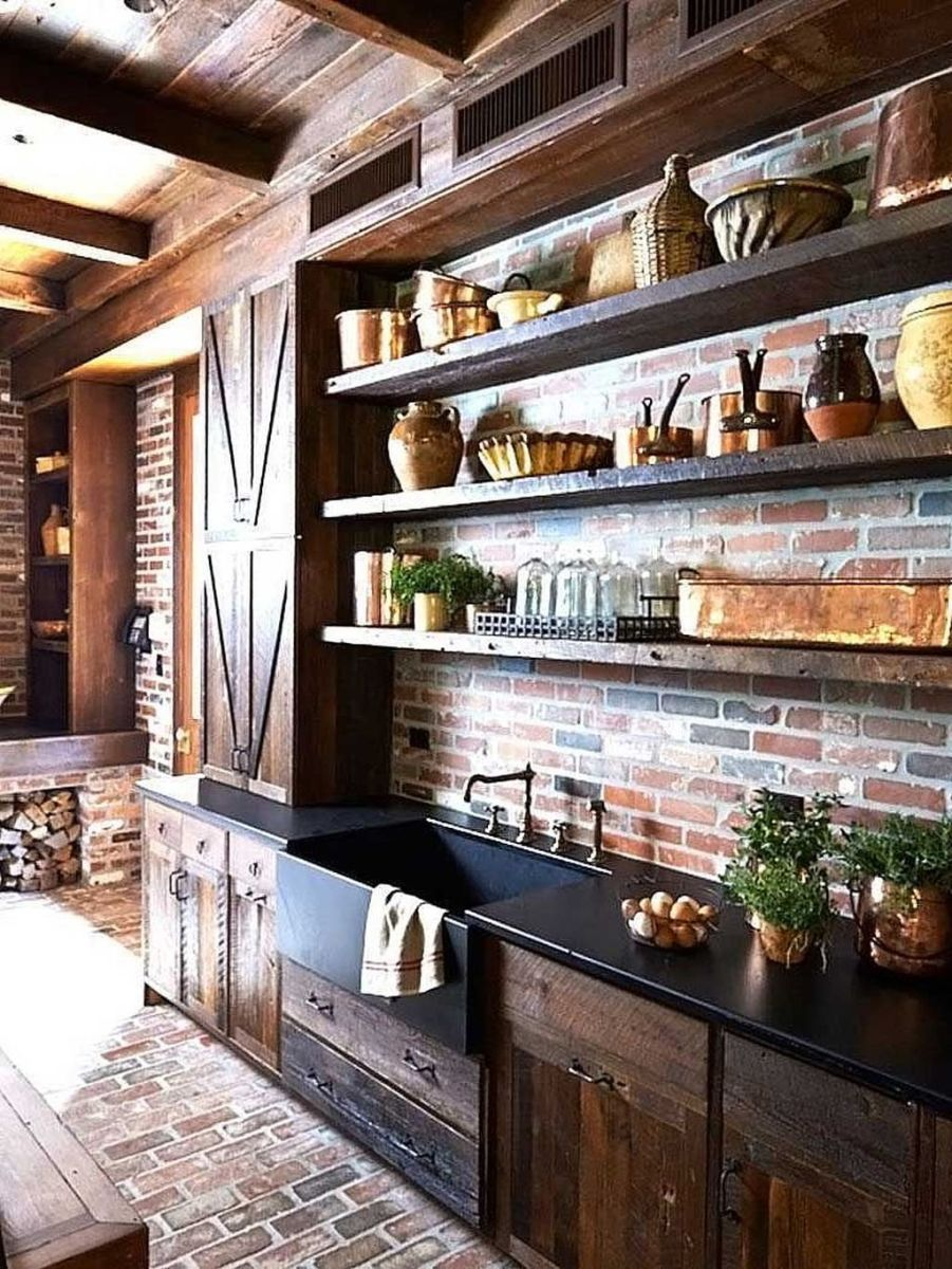 Awesome Rustic Kitchen Design Ideas 10