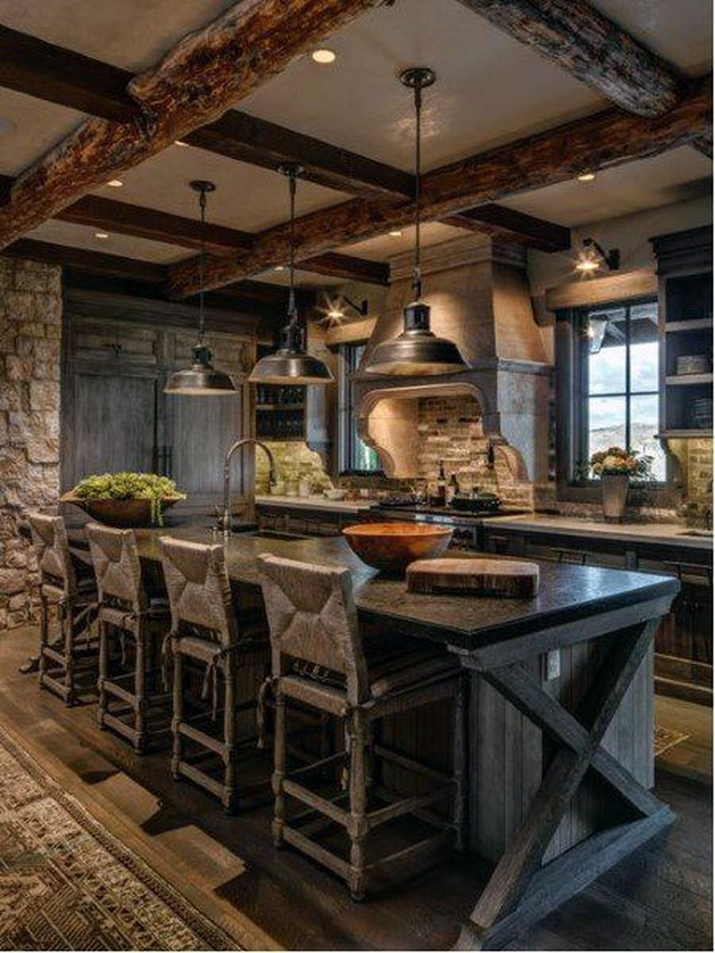 Awesome Rustic Kitchen Design Ideas 18