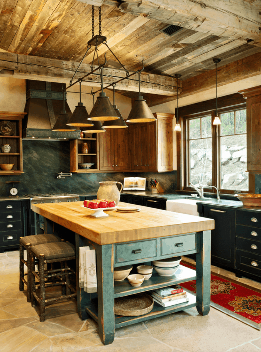 Awesome Rustic Kitchen Design Ideas 21
