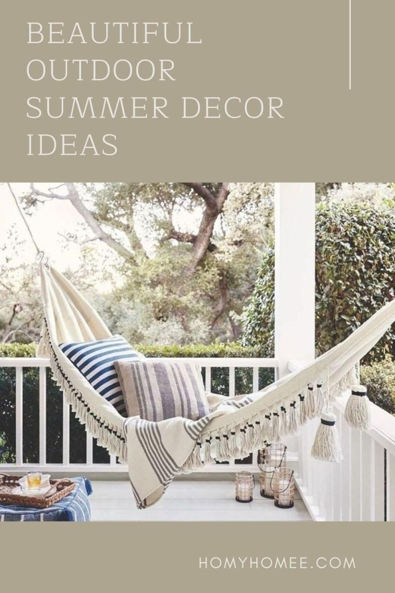 Beautiful Outdoor Summer Decor Ideas