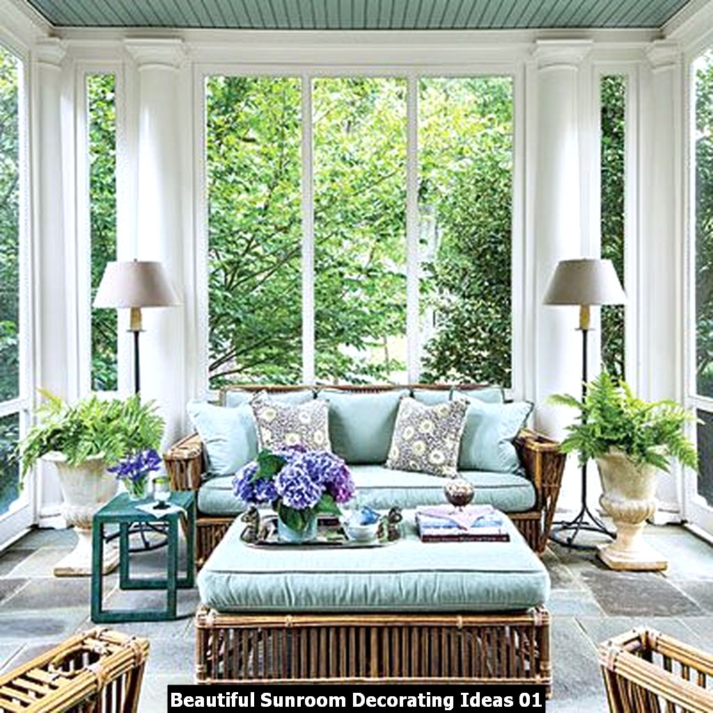 Beautiful Sunroom Decorating Ideas 01