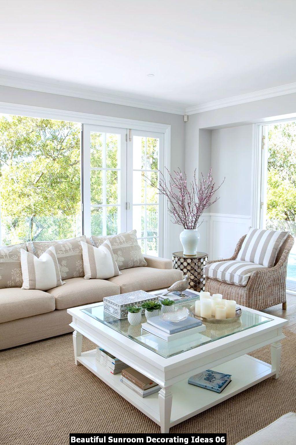 Beautiful Sunroom Decorating Ideas 06