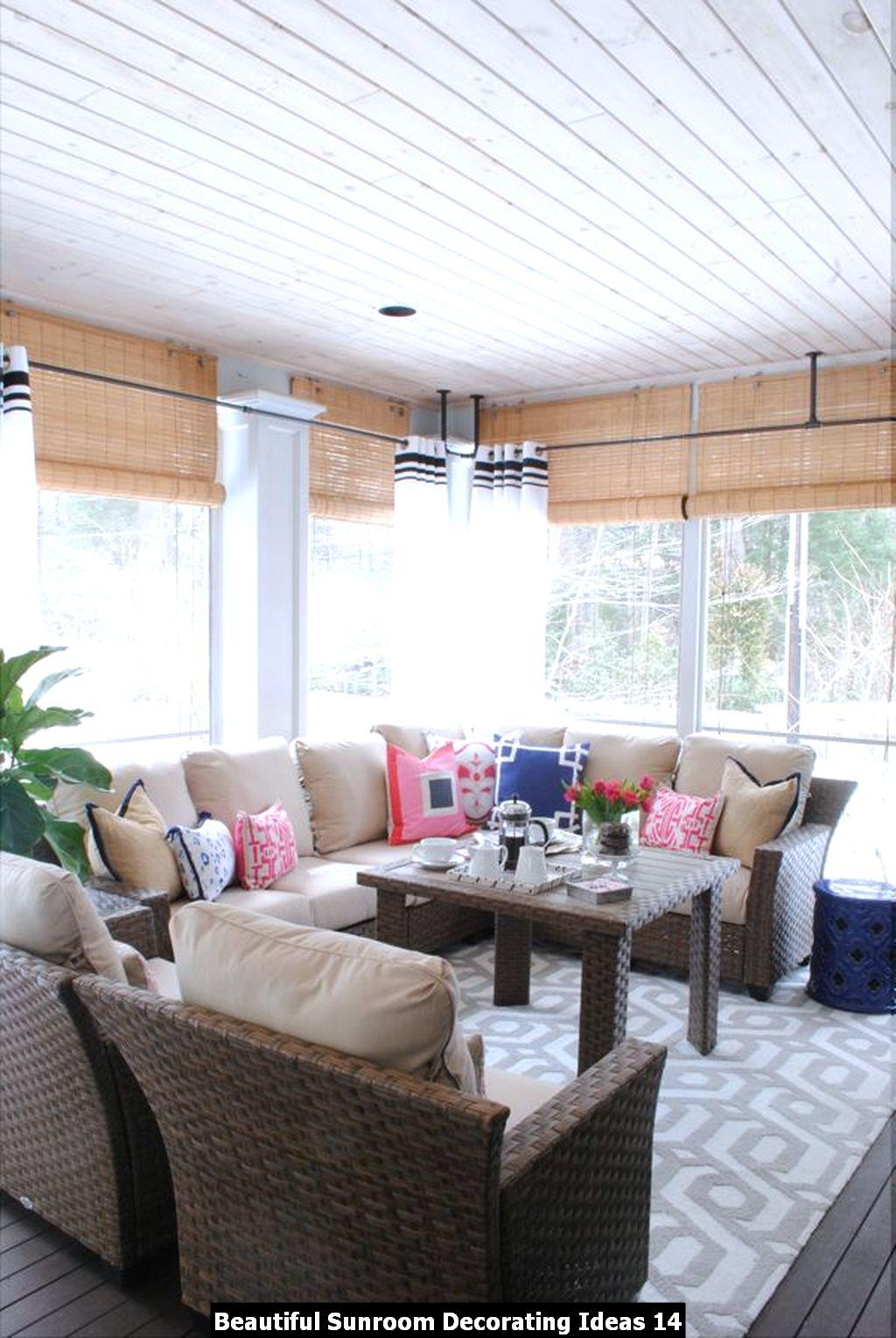 Beautiful Sunroom Decorating Ideas 14