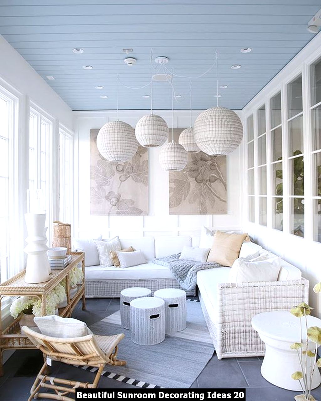 Beautiful Sunroom Decorating Ideas 20