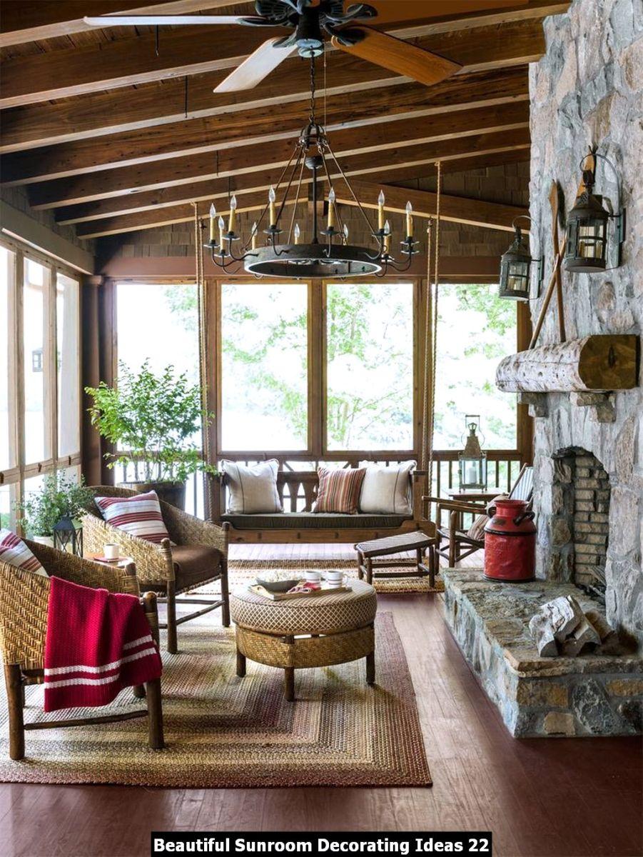 Beautiful Sunroom Decorating Ideas 22