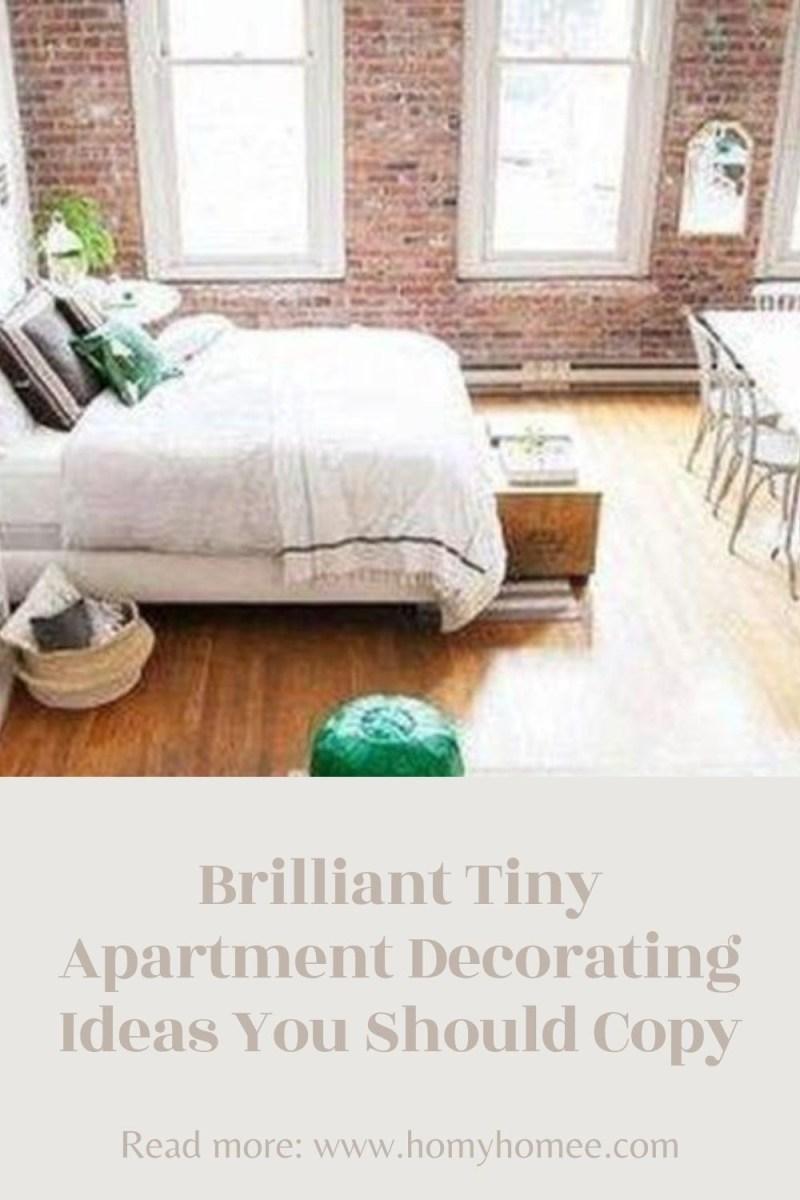 Brilliant Tiny Apartment Decorating Ideas You Should Copy