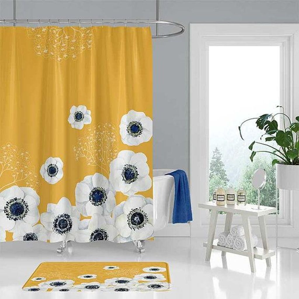 Creative Sunny Yellow Bathroom Decor For Summer 01