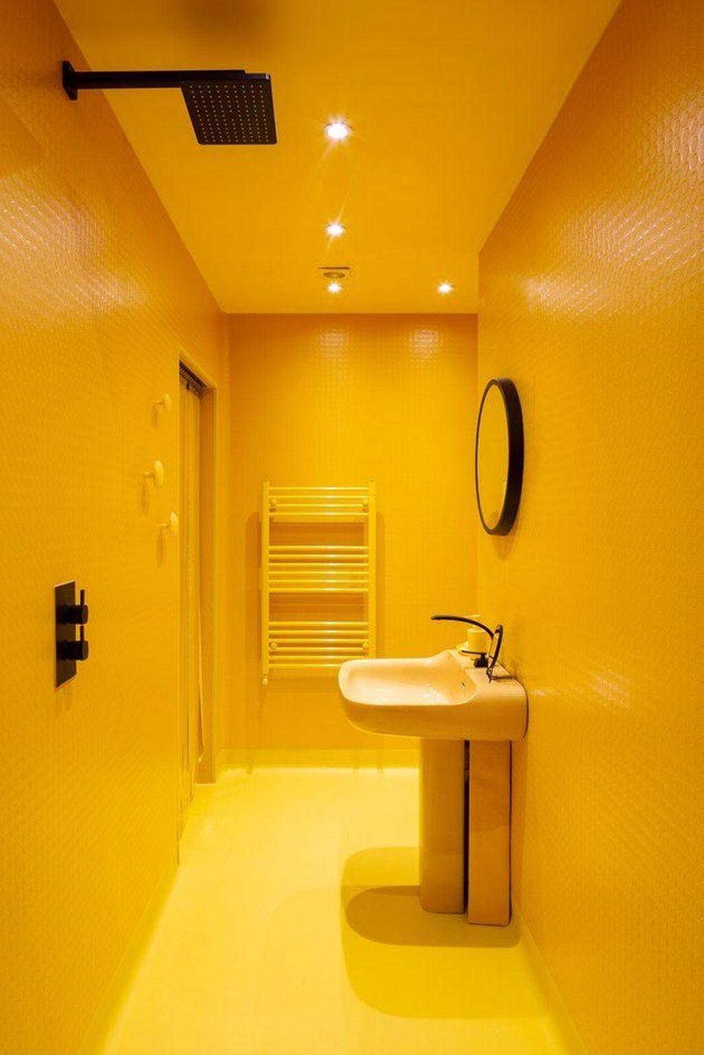 Creative Sunny Yellow Bathroom Decor For Summer 09