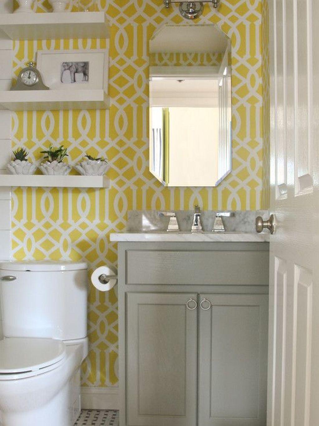 Creative Sunny Yellow Bathroom Decor For Summer 19