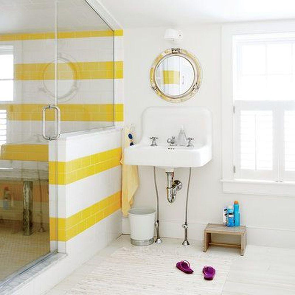 Creative Sunny Yellow Bathroom Decor For Summer 22