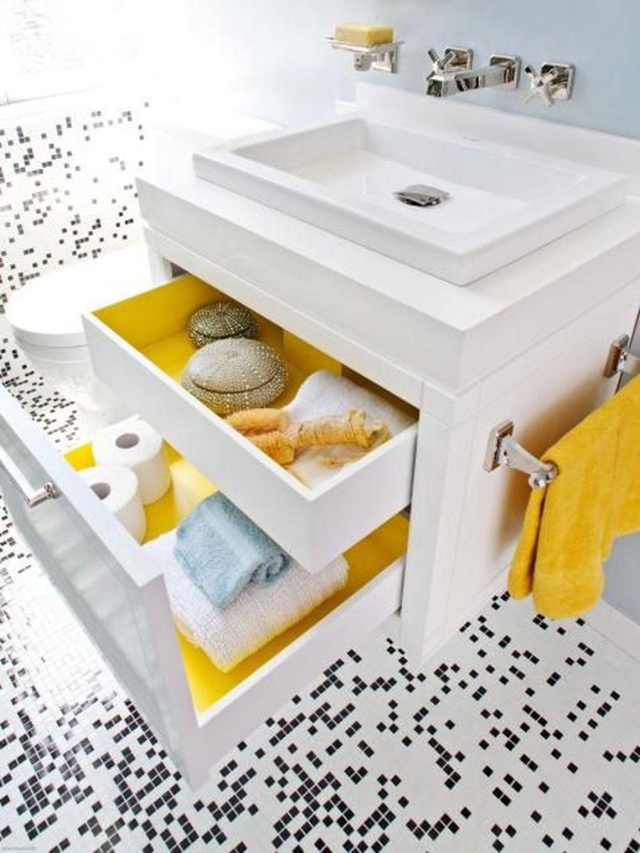 Creative Sunny Yellow Bathroom Decor For Summer 23
