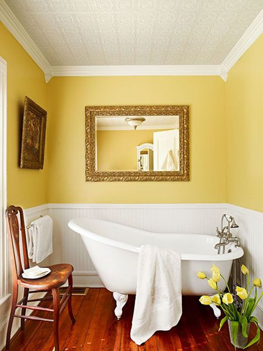 Creative Sunny Yellow Bathroom Decor For Summer 27