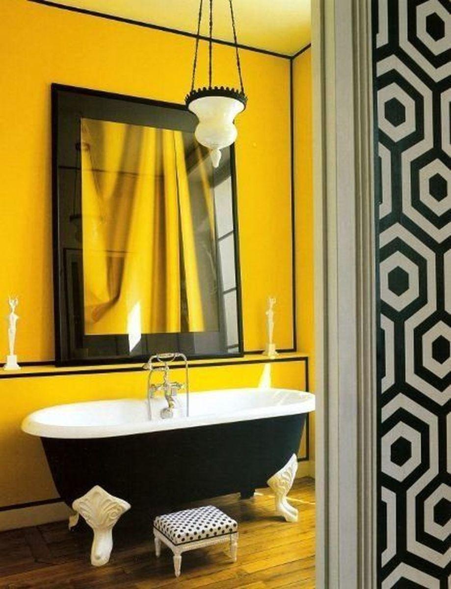 Creative Sunny Yellow Bathroom Decor For Summer 39