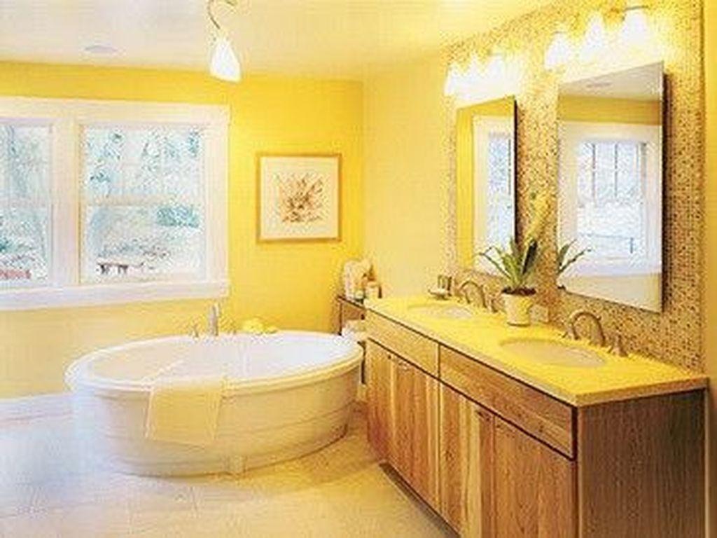 Creative Sunny Yellow Bathroom Decor For Summer 41