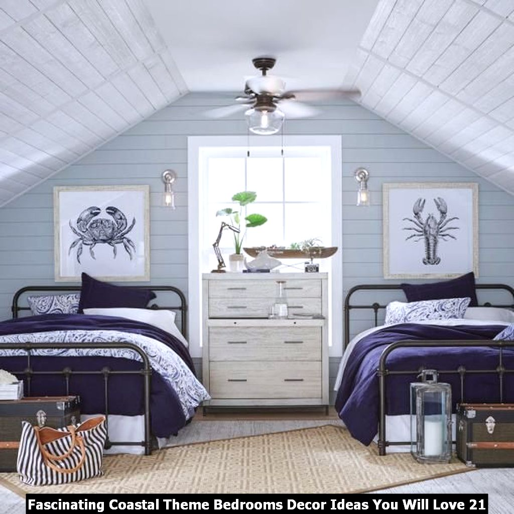 Fascinating Coastal Theme Bedrooms Decor Ideas You Will Love 21