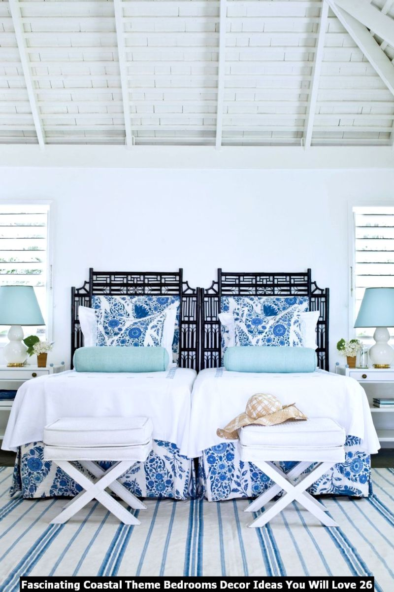 Fascinating Coastal Theme Bedrooms Decor Ideas You Will Love 26