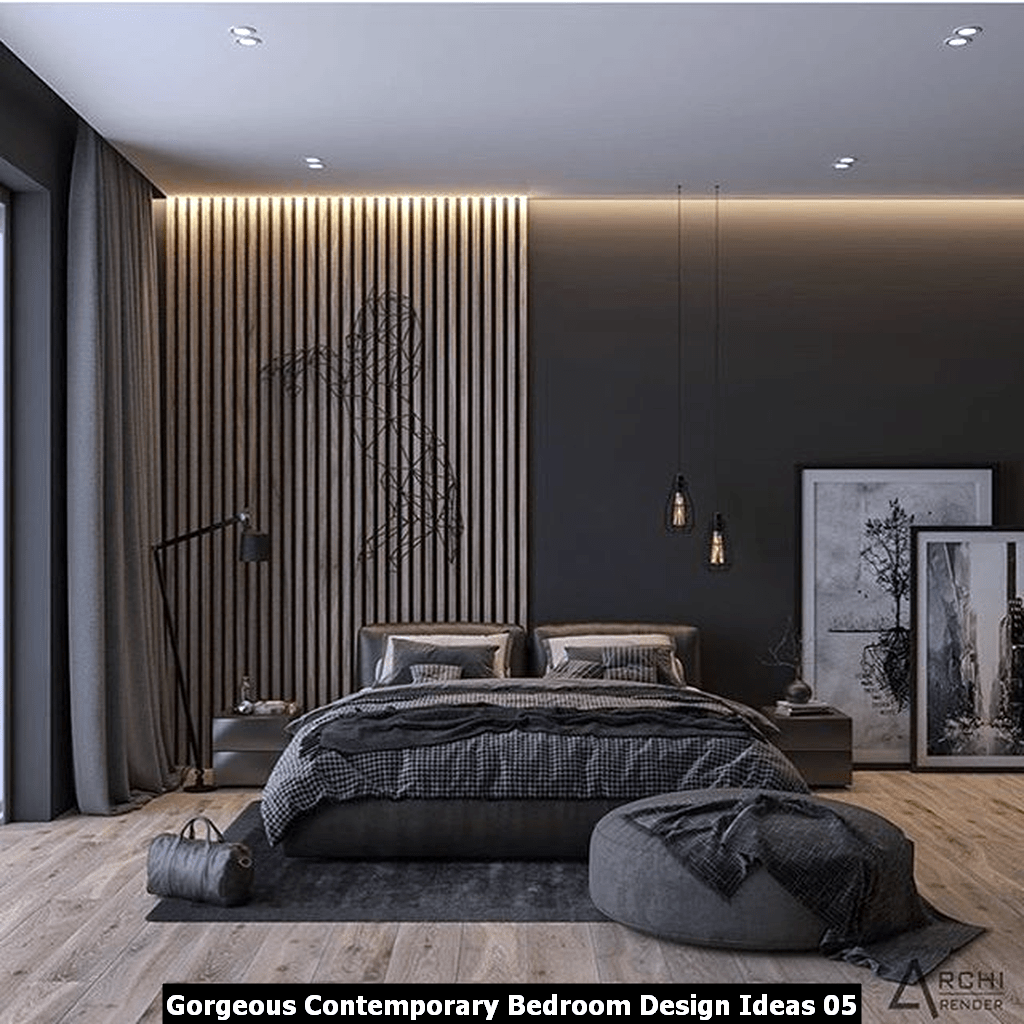 Gorgeous Contemporary Bedroom Design Ideas 05