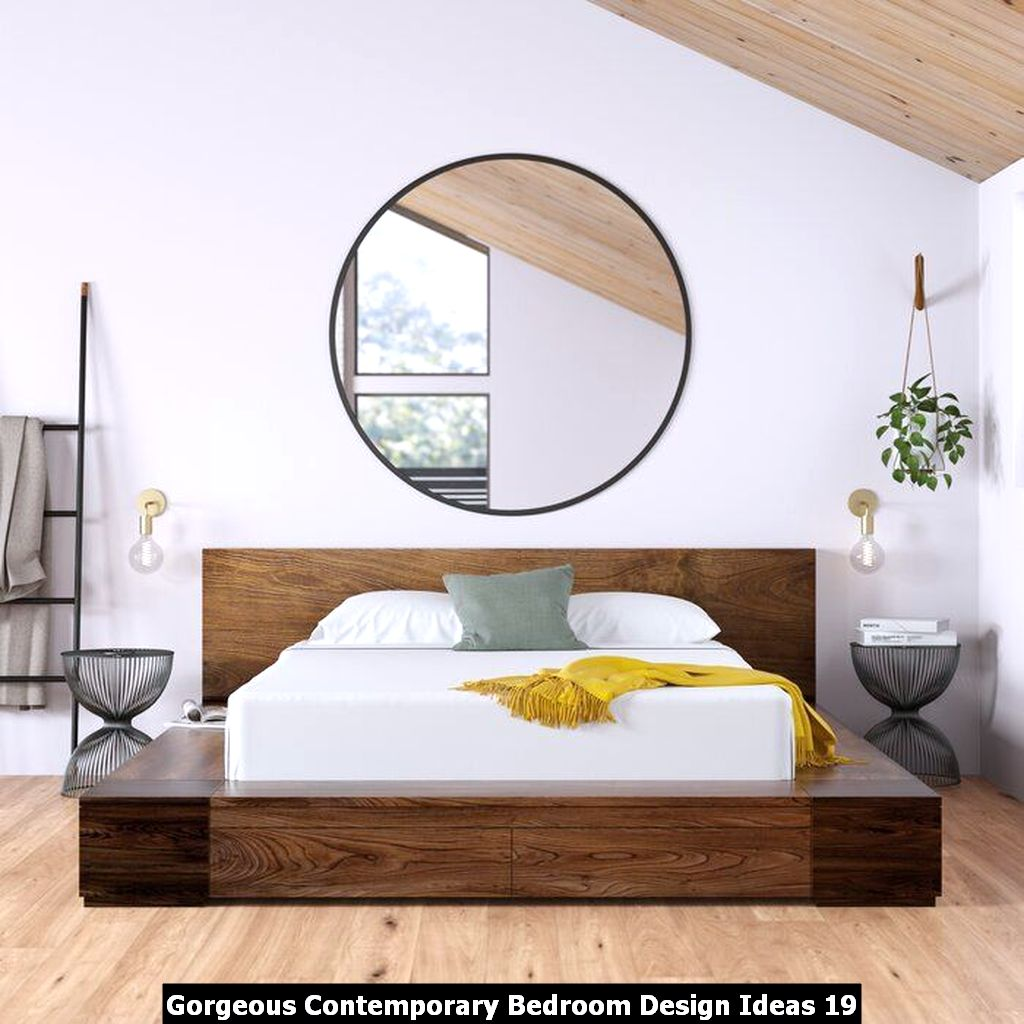 Gorgeous Contemporary Bedroom Design Ideas 19