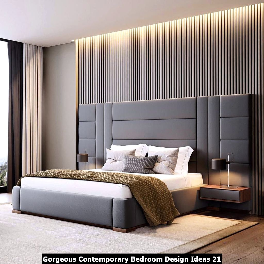 Gorgeous Contemporary Bedroom Design Ideas 21