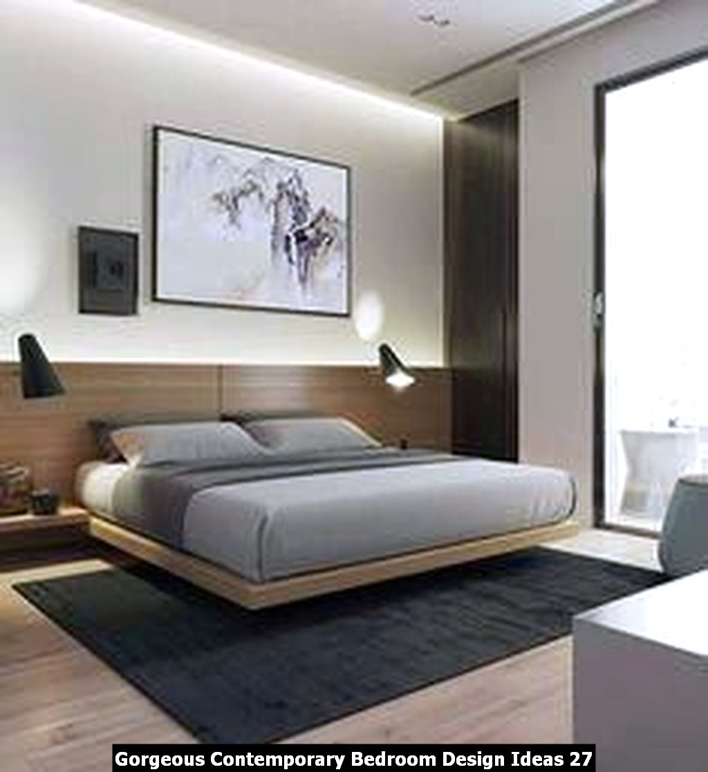 Gorgeous Contemporary Bedroom Design Ideas 27