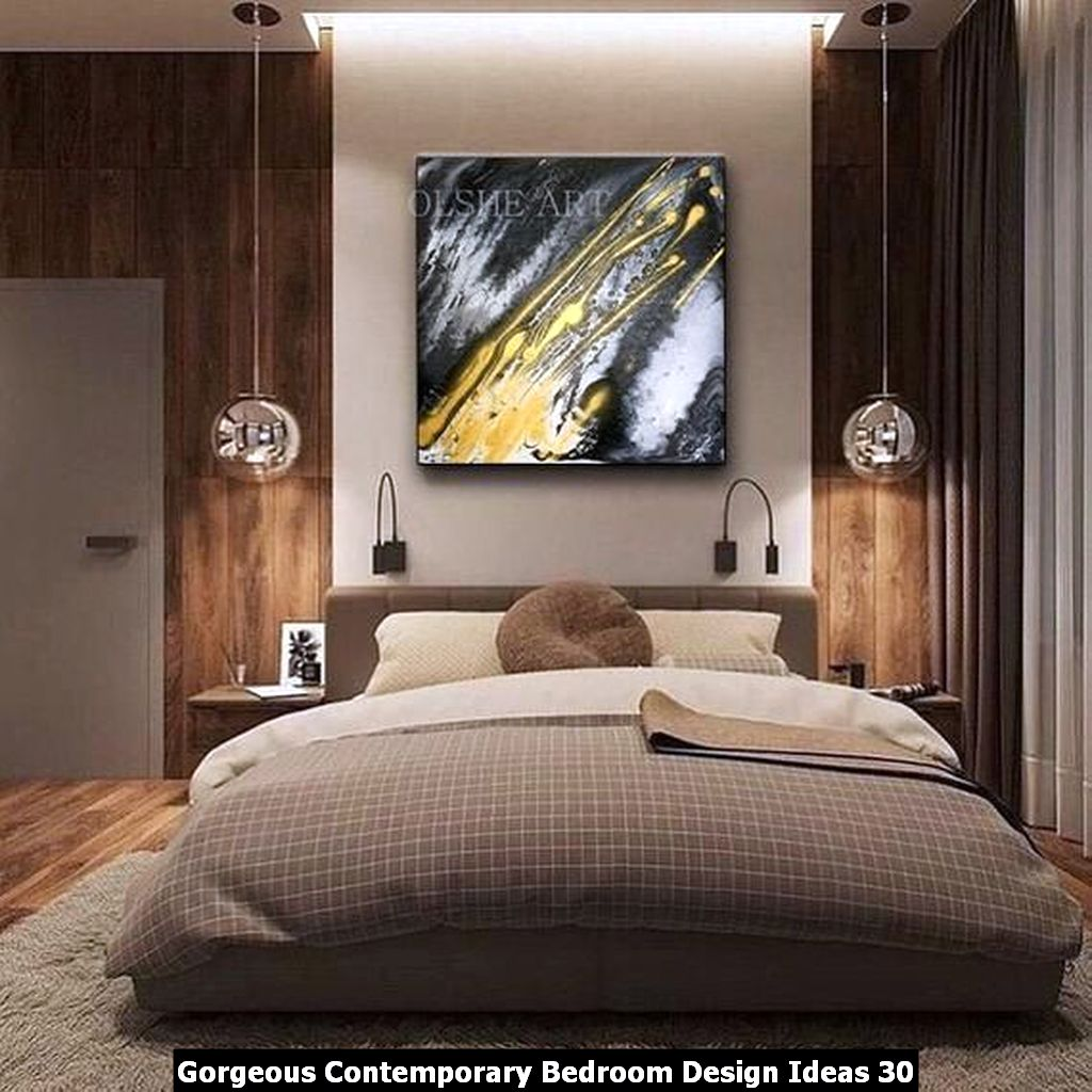 Gorgeous Contemporary Bedroom Design Ideas 30