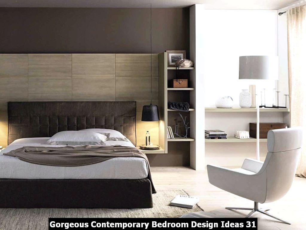 Gorgeous Contemporary Bedroom Design Ideas 31