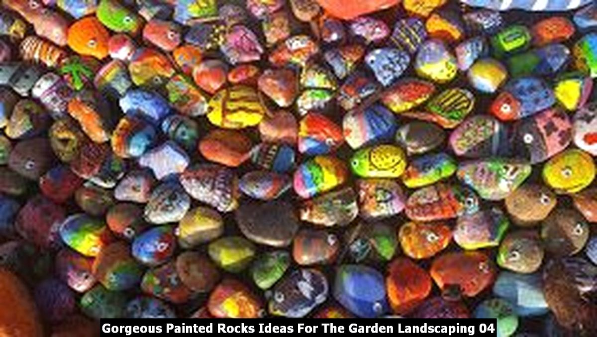 Gorgeous Painted Rocks Ideas For The Garden Landscaping 04