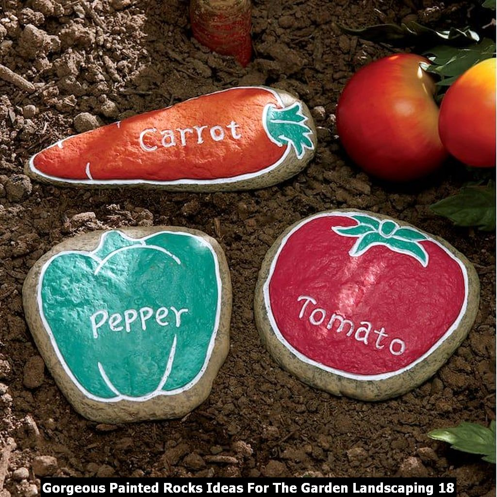 Gorgeous Painted Rocks Ideas For The Garden Landscaping 18