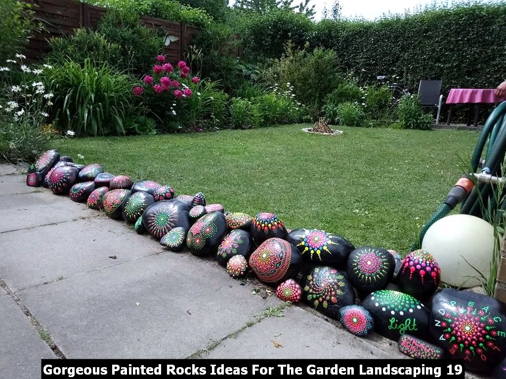Gorgeous Painted Rocks Ideas For The Garden Landscaping 19